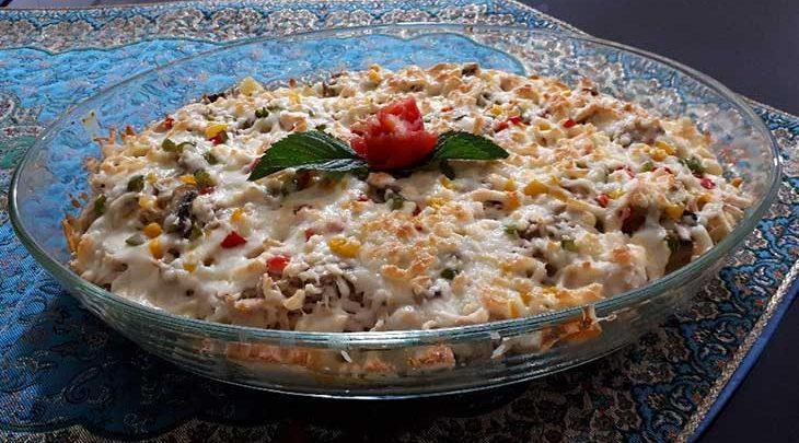 گراتن ماکارونی، پیش غذایی شیک، خوشمزه و آسان